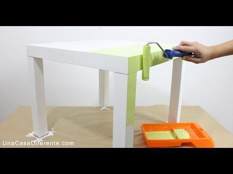 Cómo pintar muebles de melamina - Mesa Lack Ikea