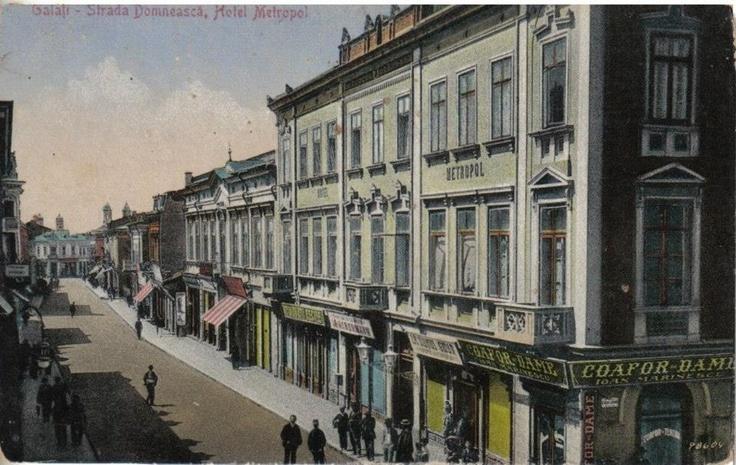 Galati - str Domneasca, colt cu Lahovary - Hotel Metropol - interbelica