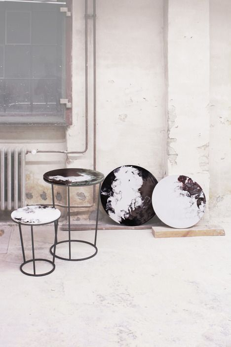 Beautiful tables - tops and bottoms: Ceramic Tables by Elisa Strozyk