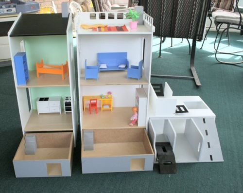 Ikea Lillabo Wood Dollhouses Car Parking Garage Furniture 1
