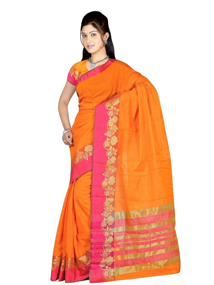 Indian Fashionista Women Cotton saree (KANLOTUS6_Multi_Free Size)