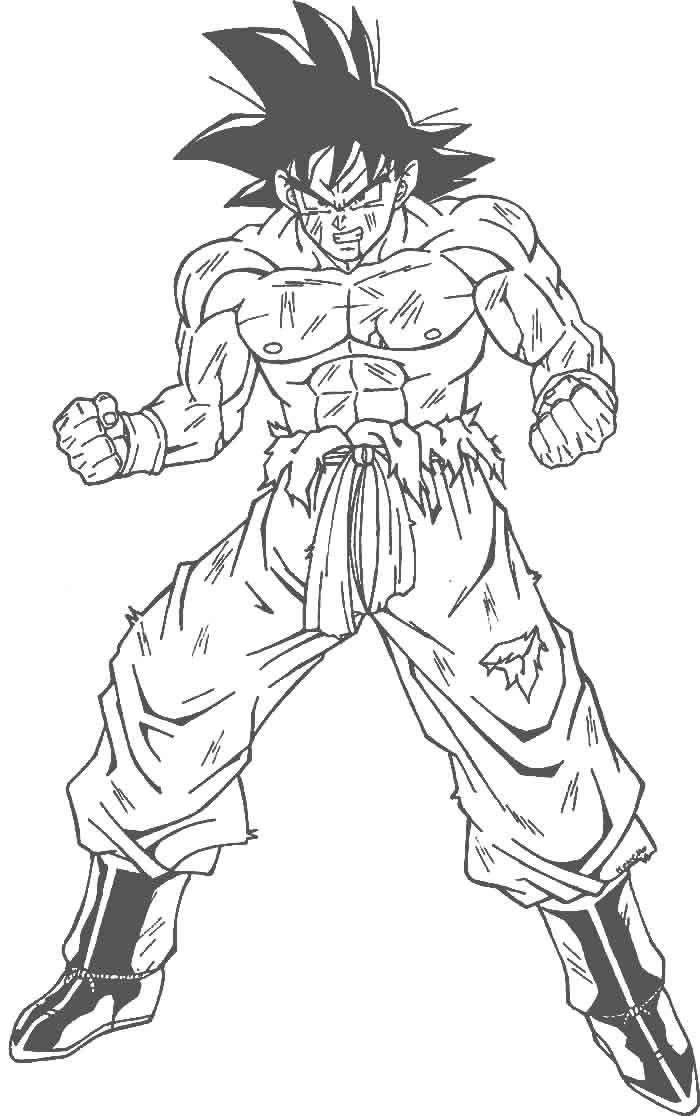 Im 225 Genes De Goku Y Sus Transformaciones Para Colorear