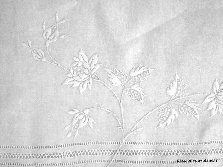 linge ancien de lit draps taies linge ancien. Black Bedroom Furniture Sets. Home Design Ideas