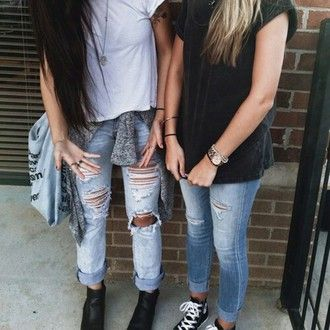 jeans ripped jeans swag style cute girly hipster adorable grunge soft grunge pants indie indie scene punk clothes
