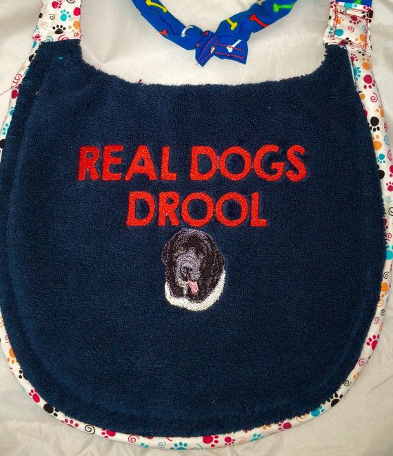 Real Dogs Drool Bib For Dogs Giant Breeds Large Breeds