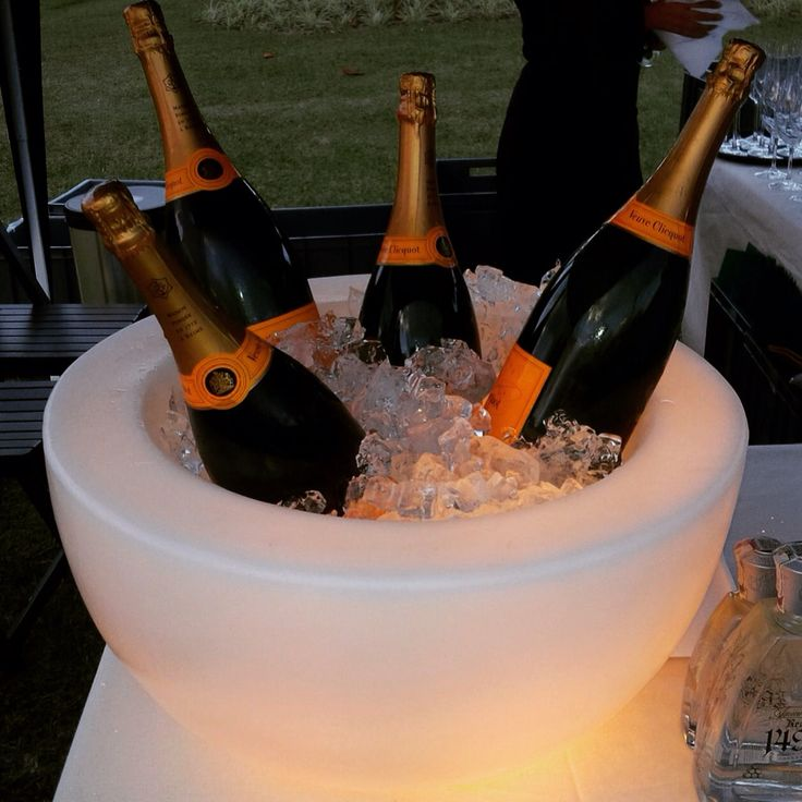 PUFFY ice bucket keeping some fine champagne cool....