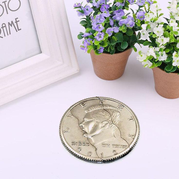 Magic Coin Three Folding Coin Magic Tricks Toys Emotion Puzzle Educational