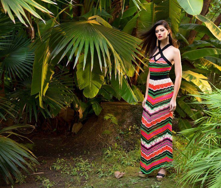 😲 !!Tenemos disponible para #comprar en #tienda #online este #vestido largo #crochet de #Sahoco!! ¿Te gusta? ¡A nosotros nos encanta!