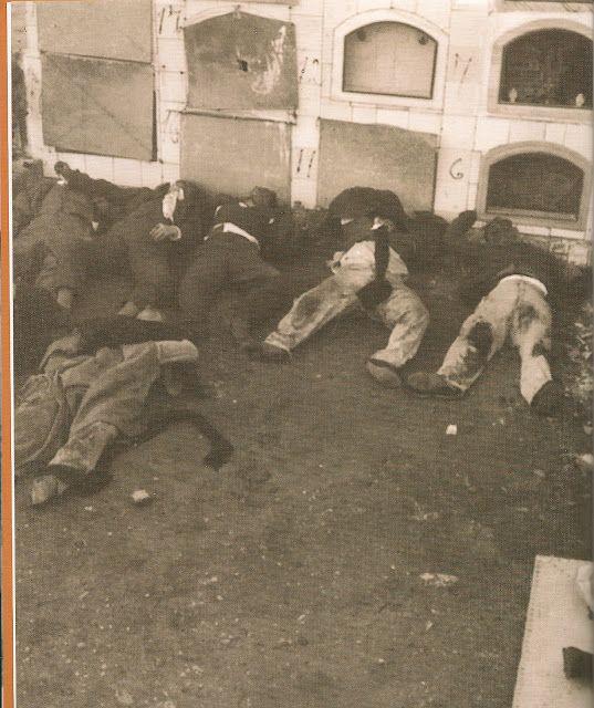 Fusilamentos da Columna Madrid dende Cádiz ata Badajoz.
