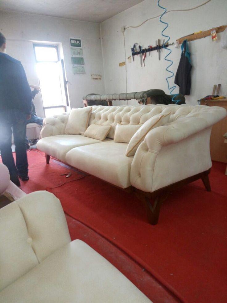 Hermosa Muebles Horizonte De La Cama Lateral Tufted Friso - Muebles ...