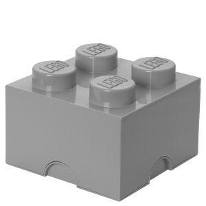 LEGO Storage Brick Box 4 - Medium Stone Grey: Image 1