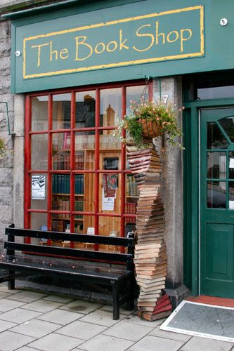 THE BOOK SHOP in Wigtown, Dumfries and Galloway, SCOTLAND. Scotland's biggest second-hand ­bookshop... a mile of ­shelving holds books on all subjects and prices. There are sofas in the gallery and good coffee... ­Customers tend to spend hours ­browsing...