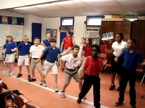 Jump in the Line dance 4th grade