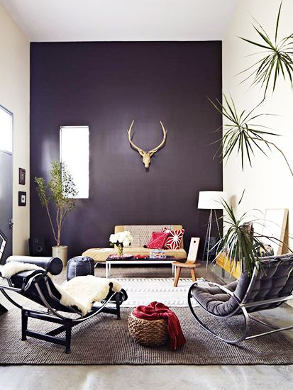 works the accent wall brown walls black walls purple walls white walls