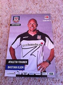 Bastian Kliem FSV Frankfurt Football Trainer Signed Picture/autograph