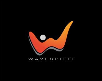WaveSport - Abstract W Logo Logo design - WaveSport - Abstract W Logo, files available are Illustrator eps, editable, resizable, CMYK and ready to print. This logo was deliberately designed with strong, simple, solid lines so it's instantly recognisable, and it will look great embroidered onto a merchandise, printed on business cards. Price $299.00