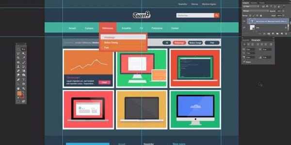 Tuto Photoshop - Créer une maquette Web en Flat Design