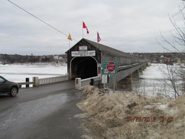 worlds longest bridge, Woodstock New Brunswick
