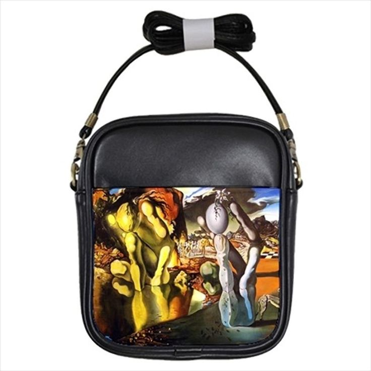 Metamorphose De Narcisse Salvador Dali Leather Sling Bag & Women's Handbag
