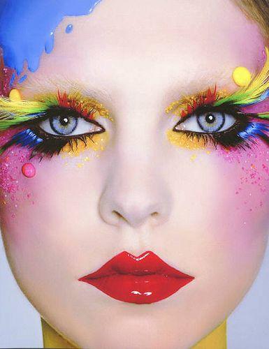 Colorful MakeupColors Makeup, Fantasy Makeup, Makeup Trends, Eye Makeup, Clowns Makeup, Rainbows, Makeup Ideas, Glitter Makeup, Makeupideas