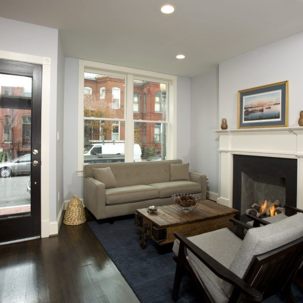 Design Build Row House Renovation In Washington Dc Four Brothers Design Build Row House Design Home Living Room Living Room Remodel