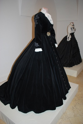 Gown of Empress Elisabeth (Sisi)  ~ wish it were a better photograph, as I'd love to see the details.
