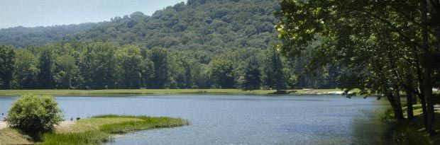 587-acre Pike Lake State Park is located in the midst of the scenic wooded hills of southern Ohio. The small 13-acre lake and surrounding state forest contribute to the park's rustic charm.