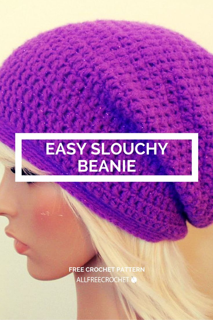 free crochet pattern: really easy slouchy beanie - Jenn ...