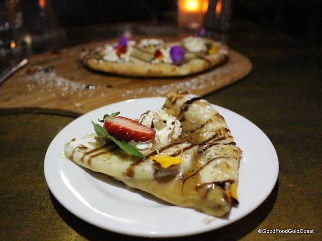 Banoffee pizza from Sage Broadbeach - part of a menu with something for everyone!
