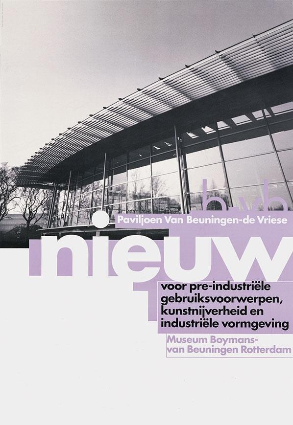 8vo. Museum Boymans-van Beuningen Rotterdam, poster, 1991. From 8vo On the Outside, Lars Müller, 2005
