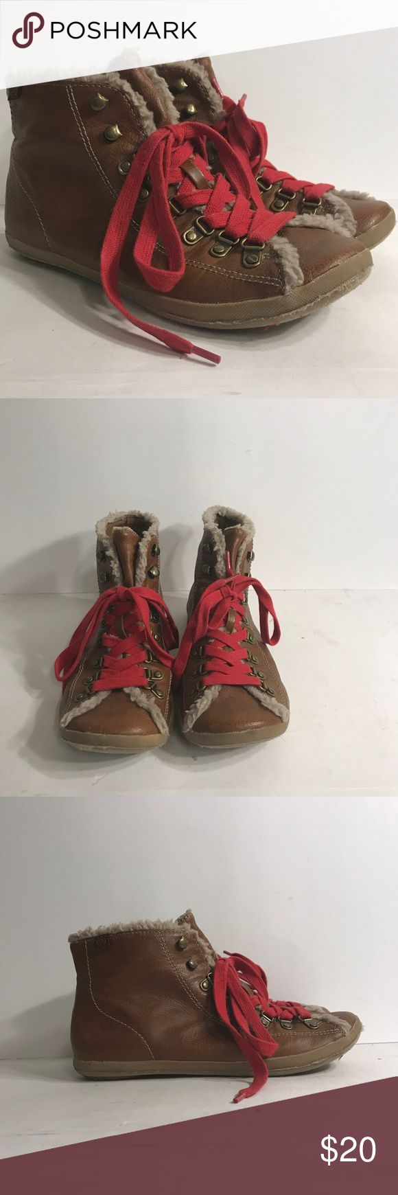 """Big Buddha """"wrestling"""" booties Really cool look..Brown manmade flat booties lace up.. These are 8.5 but fit like an 8. Big Buddha Shoes Ankle Boots & Booties"""