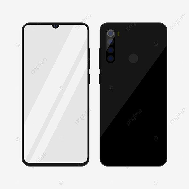 Redmi Note 8 Smartphone Mockup In Black Color Smartphone Mockup Phone Png And Vector With Transparent Background For Free Download Youtube Design Picture Frame Colors Color Vector