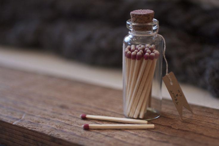 TROUT & CO. matches #glassbottle #matches #vial #branding