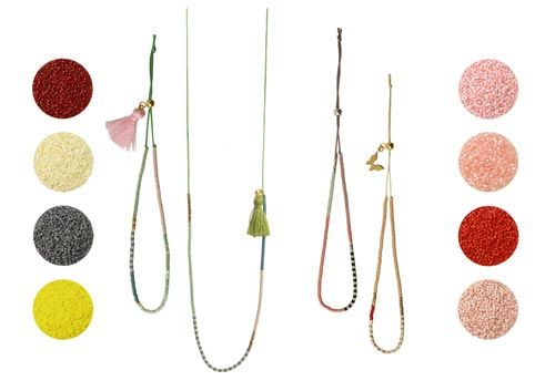 Armbånd og halskæde med delica perler