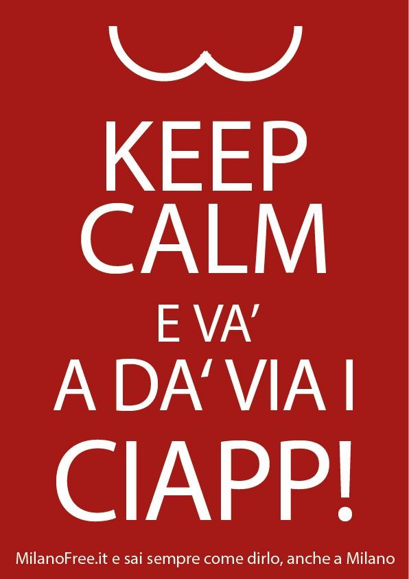 #keep #calm #milan #milano Stai calmo e vai...ehm..a quel paese!