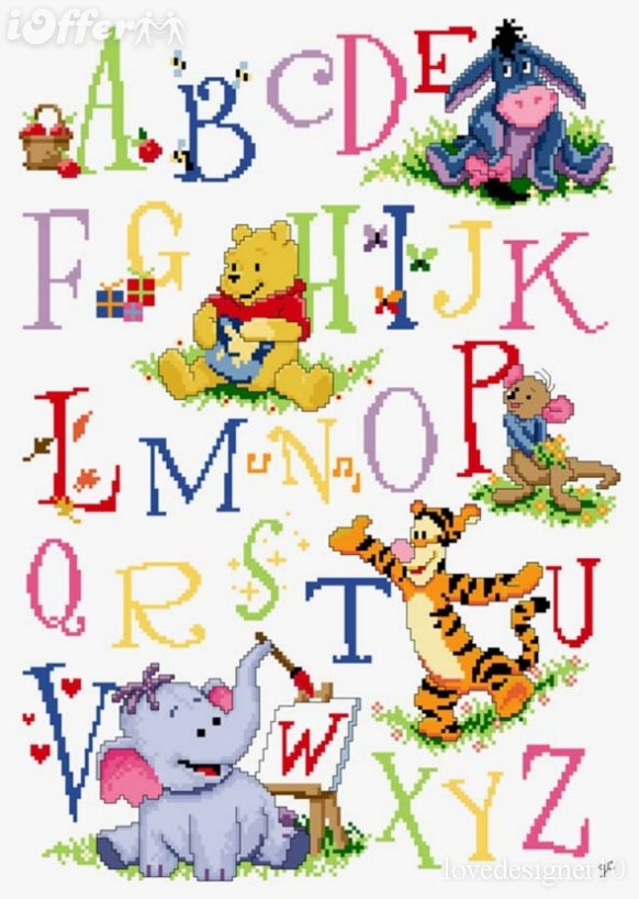 Pooh Cross Stitch Patterns | Free winnie the pooh cross stitch patterns