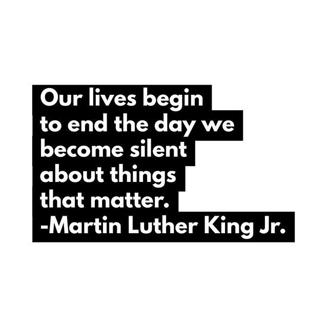 You may not say it perfectly but we must speak up about what really matters - injustice racism inequality. We only have this brief moment to make a difference. Lets choose together to speak out. The work isnt done. #resist