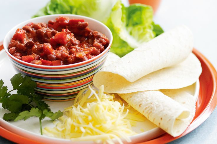 Spice up Thursday night with quick, easy & delicious spicy bean fajitas. No wonder taste members love them!