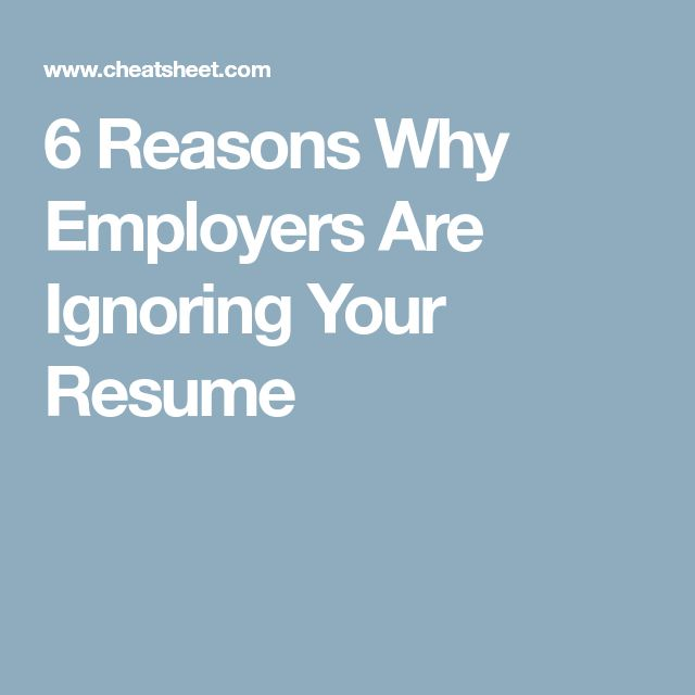 6 Reasons Why Employers Are Ignoring Your Resume [Allmoneymakingideas.com] Financial freedom | Financial independence | freelance | investment | income streams | financially free | Ideas to make money | money making ideas | dream job | high salary | earn money | earn extra money | start a blog | make money at home | how to make extra money | income ideas | income security | Financial literacy | passive income | jobs of the future | job security | freelancing | investing | Start a business