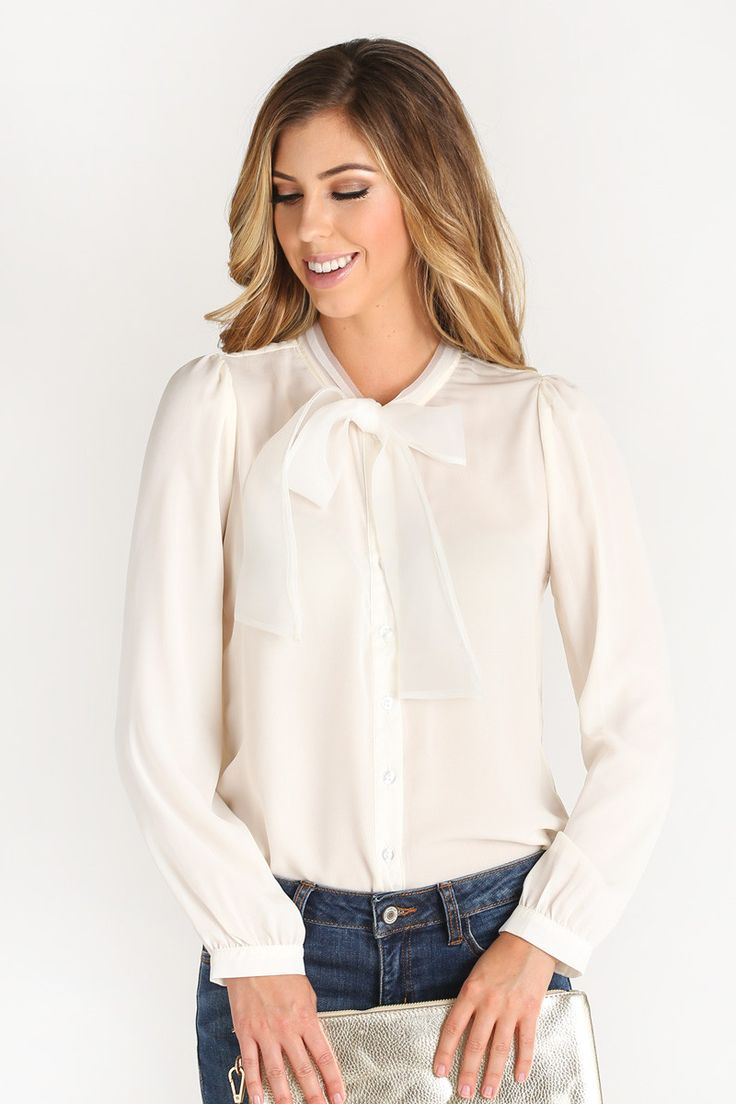 108 Best Bow Blouse 2 Images On Pinterest | Blouses Bow Blouse And Cotton Blouses
