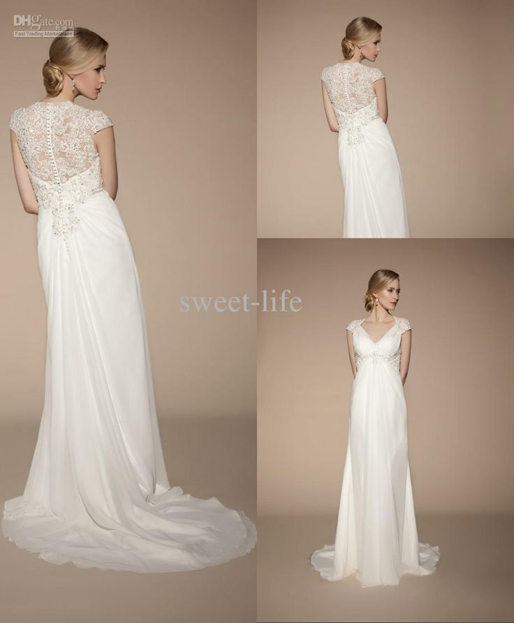 14 best pregnant bride images on pinterest pregnant for Best wedding dresses for pregnant brides