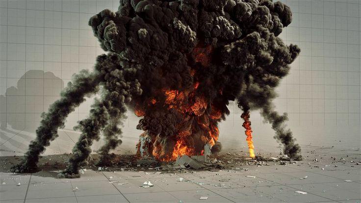 Houdini PyroFX Huge Explosion HangarComputer Graphics & Digital Art Community for Artist: Job, Tutorial, Art, Concept Art, Portfolio