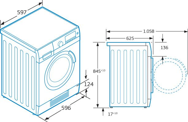 medidas de lavadoras y secadoras - Buscar con Google