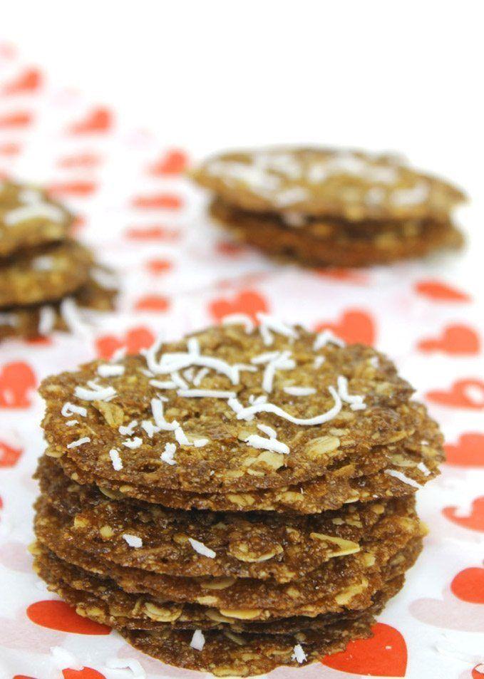 Recipe: Gluten-Free Coconut Oatmeal Lace Cookies