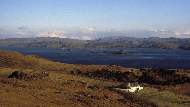 Barnhill Farmhouse on the Isle of Jura, Scotland, where George Orwell wrote 1984. Photo: Alamy
