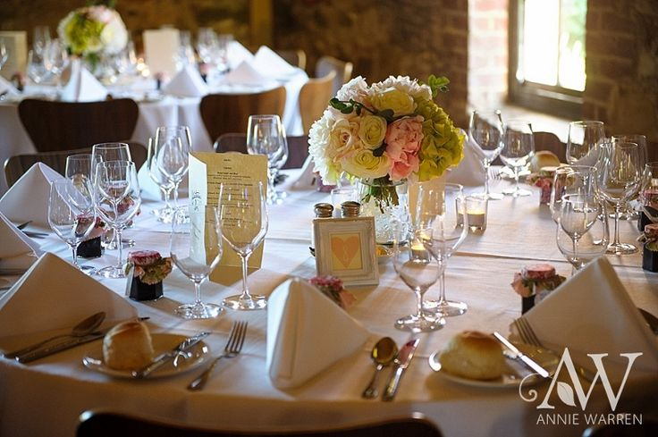 Table centrepieces by The Eternal Vase @ Chateau Dore Winery