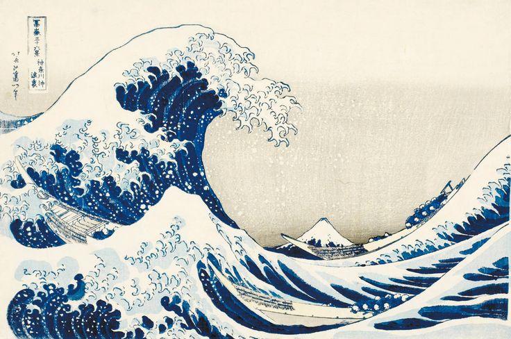 Katsushika Hokusai. Trentasei vedute del monte Fuji. La grande onda presso la costa di Kanagawa. Honolulu Academy of Arts