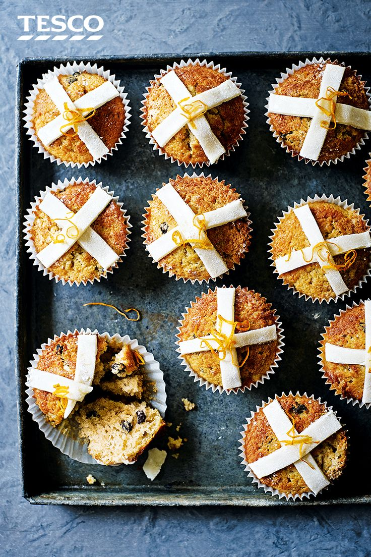 110 best easter tesco images on pinterest move over hot cross buns these easter cupcakes have a delicious zesty and marzipan twist negle Gallery
