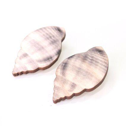 Sea Shell Earrings - Sea Salt