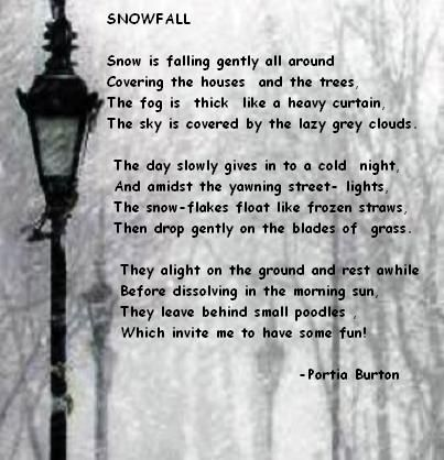 Snowfall - a poem by me